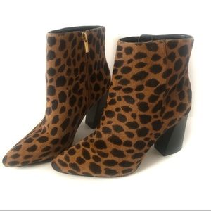 Vince Camuto Leopard Print Calf Hair Ankle Boots-8